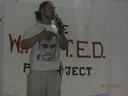 Guest speaker, Walter Hidalgo, engages youth at closing ceremony for the W.A.N.T.E.D. Project.